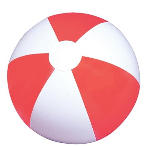 12 Ballons de plage rouge/blanc