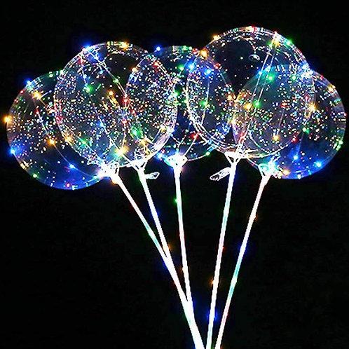 Ballon lumineux DEL sur bâton