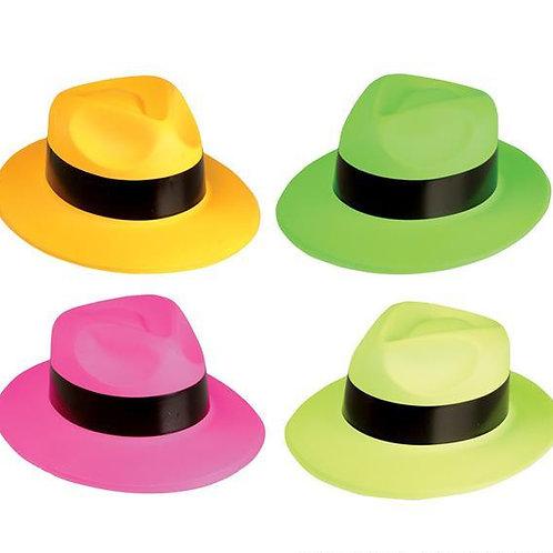 12 Chapeaux gangster néon