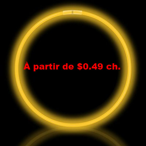 Colliers lumineux jaune