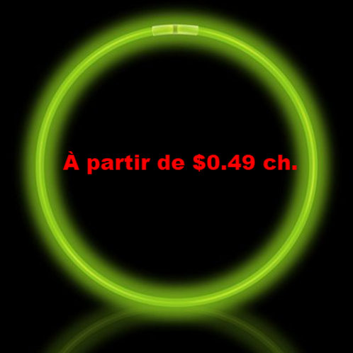Colliers lumineux vert