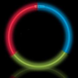 Colliers lumineux trois couleurs