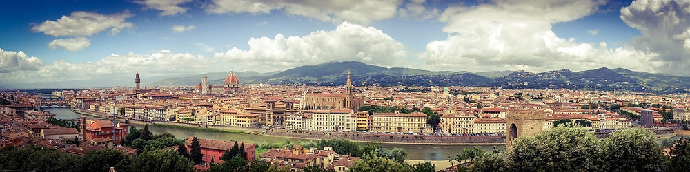 A panoramic view of Florence, Italy