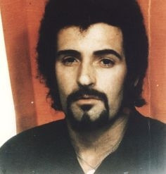 A colored portrait of English serial killer, Peter Sutcliffe