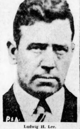 Black and white portrait image of Ludvig Halvorsen Lee criminal and murder