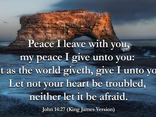"""""""Peace I Leave With You"""""""