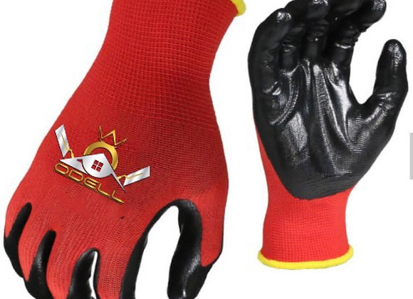 ODELL Smooth Coated Nitrile Work Gloves