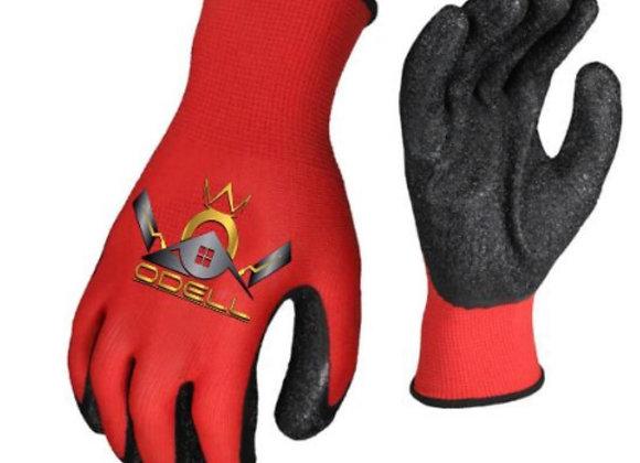 ODELL Crinkle Coated Latex Work Gloves