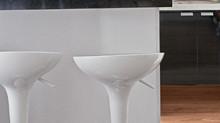 Qual a altura adequada para o balcão entre a sala e a cozinha?
