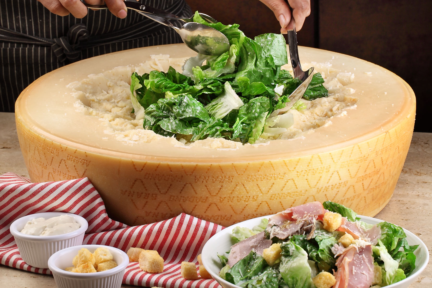 Cheese-Wheel_Caesar-Salad