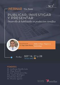 Publicar investigar y presentar