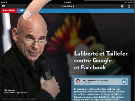 Laliberté et Taillefer contre Google et Facebook