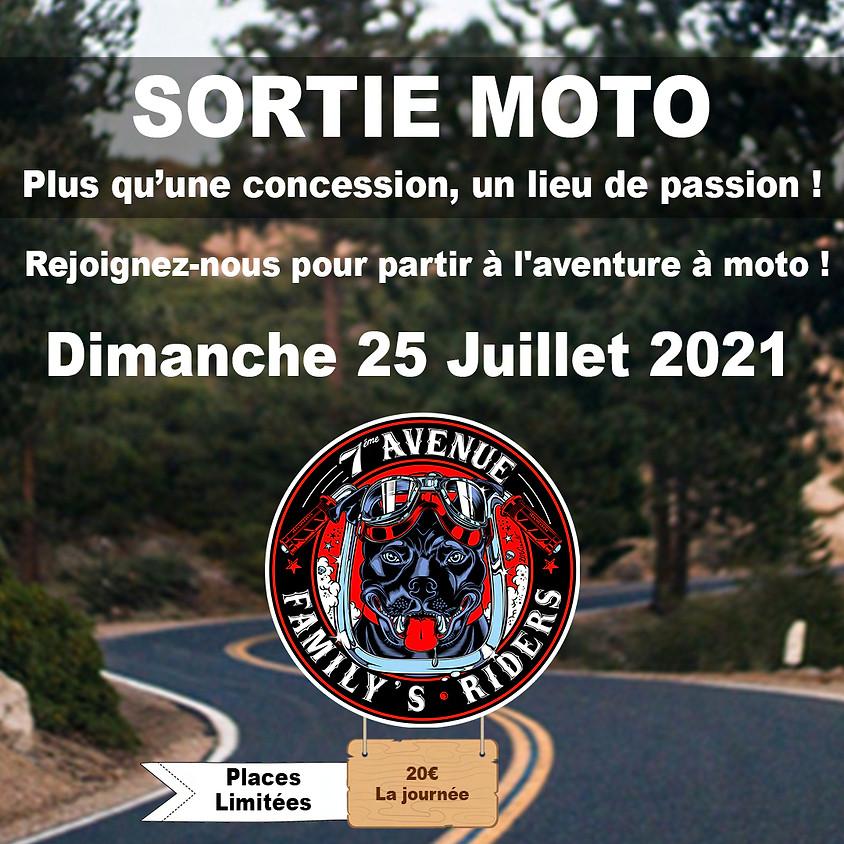 SORTIE MOTO DIMANCHE 25 JUILLET 2021 - 09H00