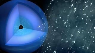 الأمطار الألماسية للكواكب الجليدية المبتكرة في مختبرات الليزر
