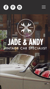 Business website templates – Vintage Car Garage