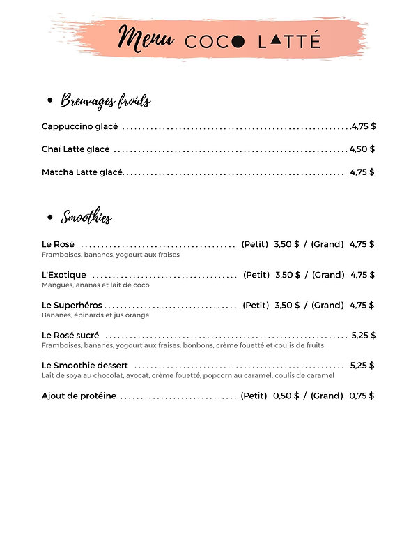 Menu JUIN 2020 breuvages froids_smoothie