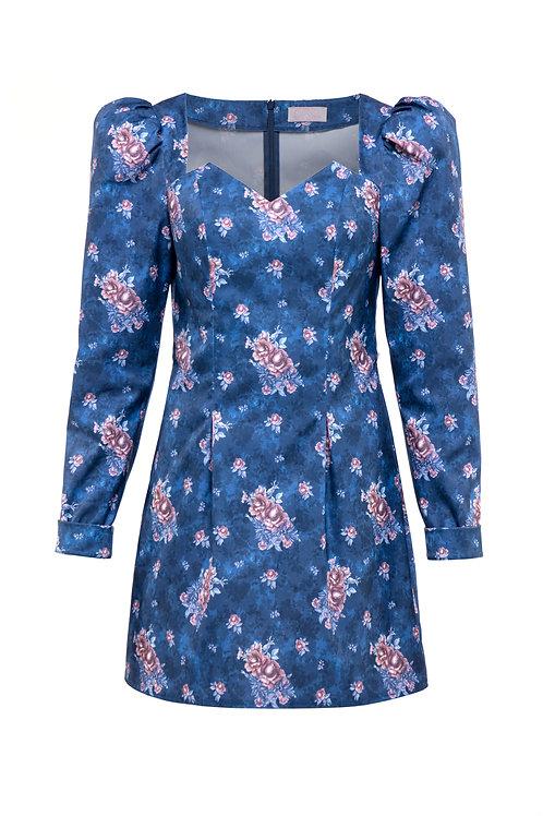 """Dress """"Blue garden"""""""