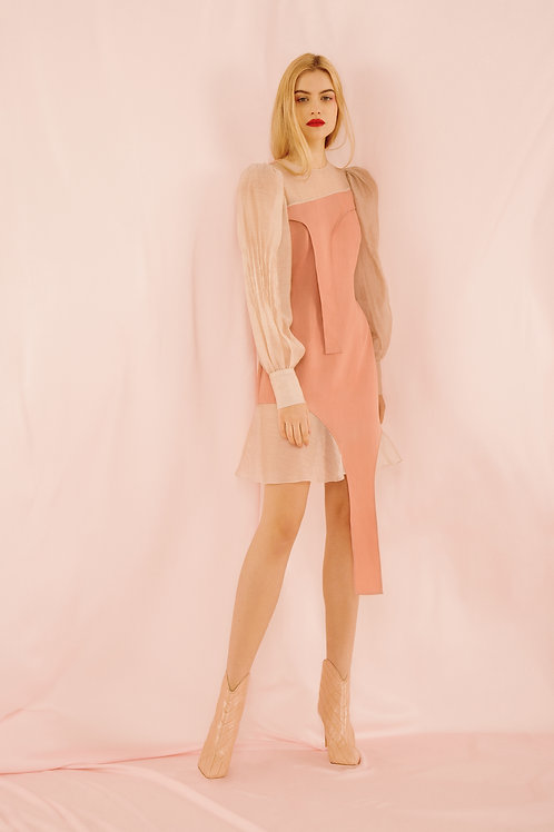 Pink dress with nude nuances