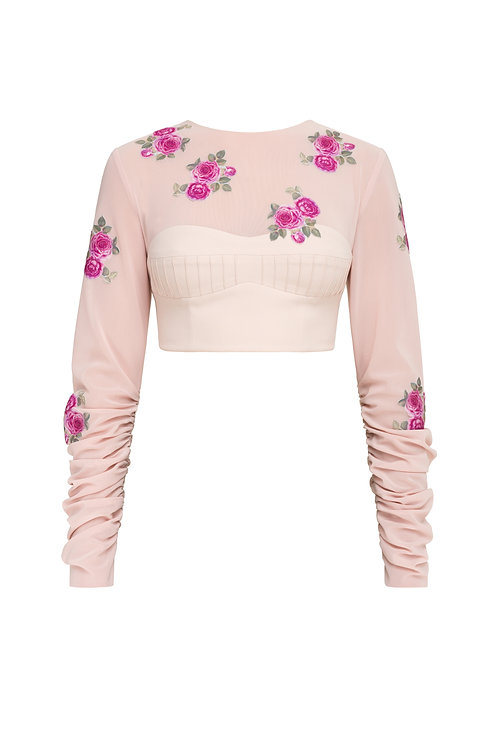 """Cropped top """"Rose"""""""