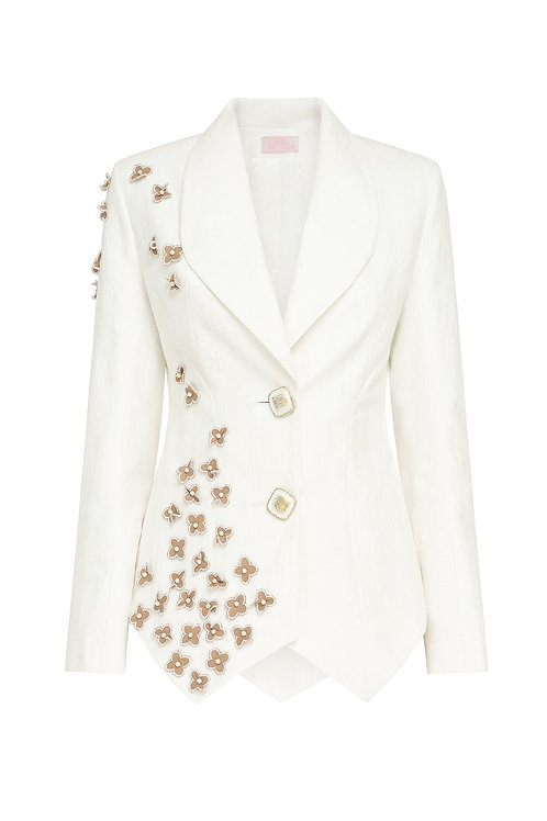 Jacket with applique