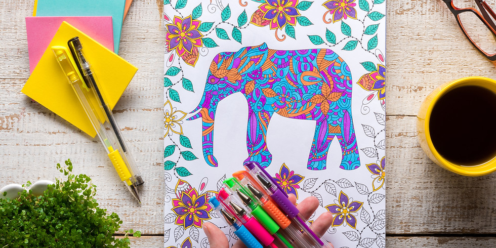 Coloring and Tea Night Out!  $5 pp (16 and older please)