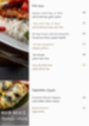Healthy Dish Restaurant Fish & Veg. Menu