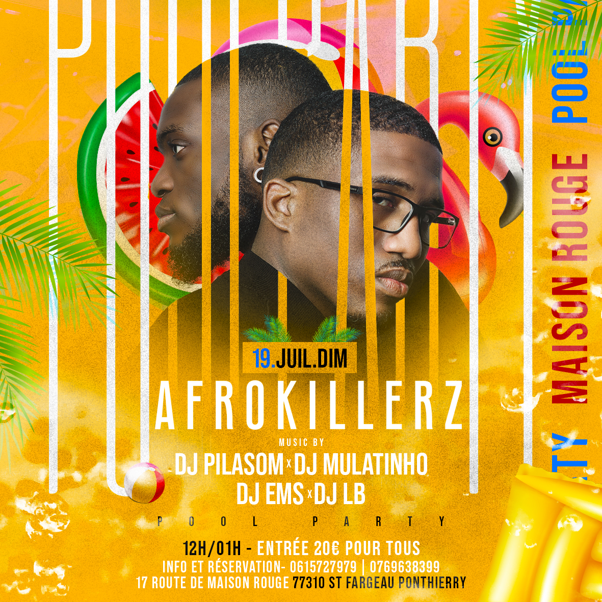 POOL PARTY W/ AFROKILLERZ FLYER ‡ARTWORK