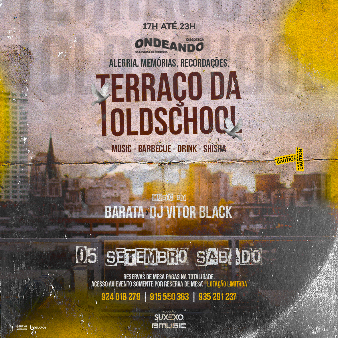 TERRAÇO DA OLD SCHOOL FLYER ARTWORK