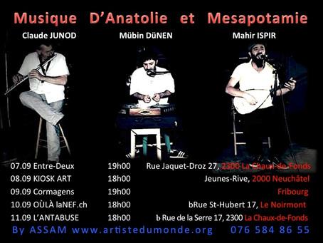 Mübin DüNEN & Mahir ISPIR & Claude JUNOD en concerts