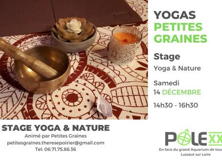Stage Yoga / avec Petites Graines / Samedi 14 Décembre 14h30 - 16h30