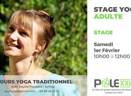 Stage Yoga avec Sophie Poussard / Samedi 1er Février 10h00 - 12h00