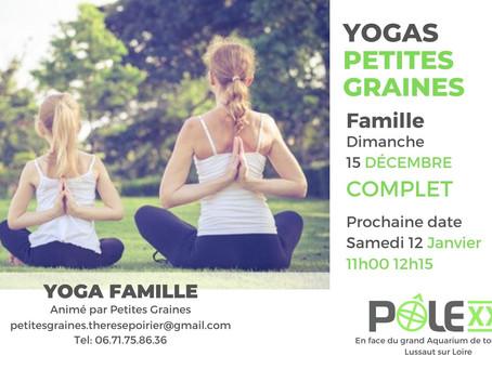Yoga Famille / 15 Décembre COMPLET / prochain rendez-vous samedi 12 janvier /