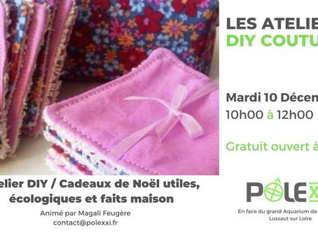 Atelier DIY Couture / Mardi 10 décembre 10h00 - 12h00