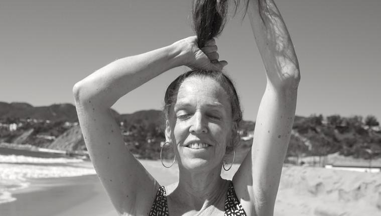Ashley Maher: b&w hair up