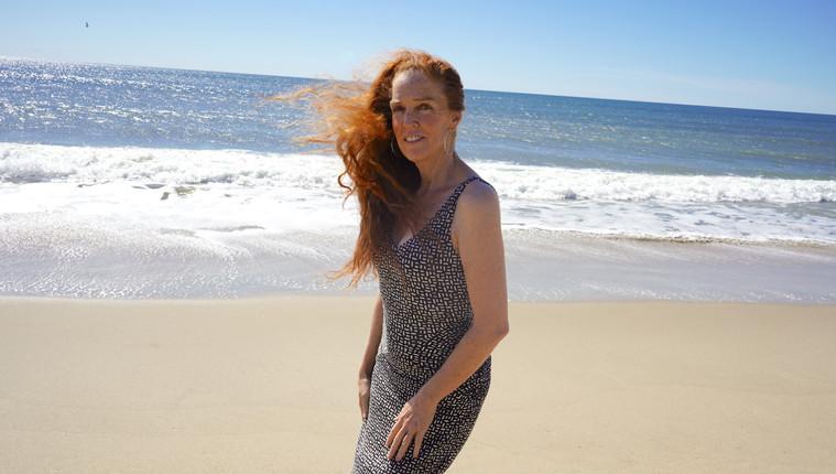 Ashley Maher: beach, three quarter