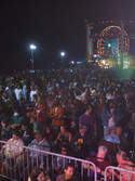 The crowd before our show for the Twilight Dance Series on the Santa Monica Pier