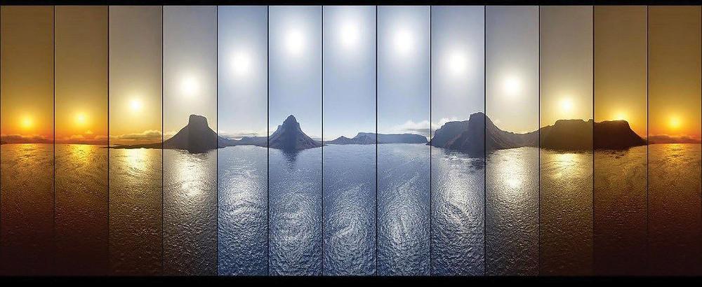 Sol refletido no mar