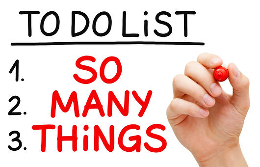 To do list: So many things!