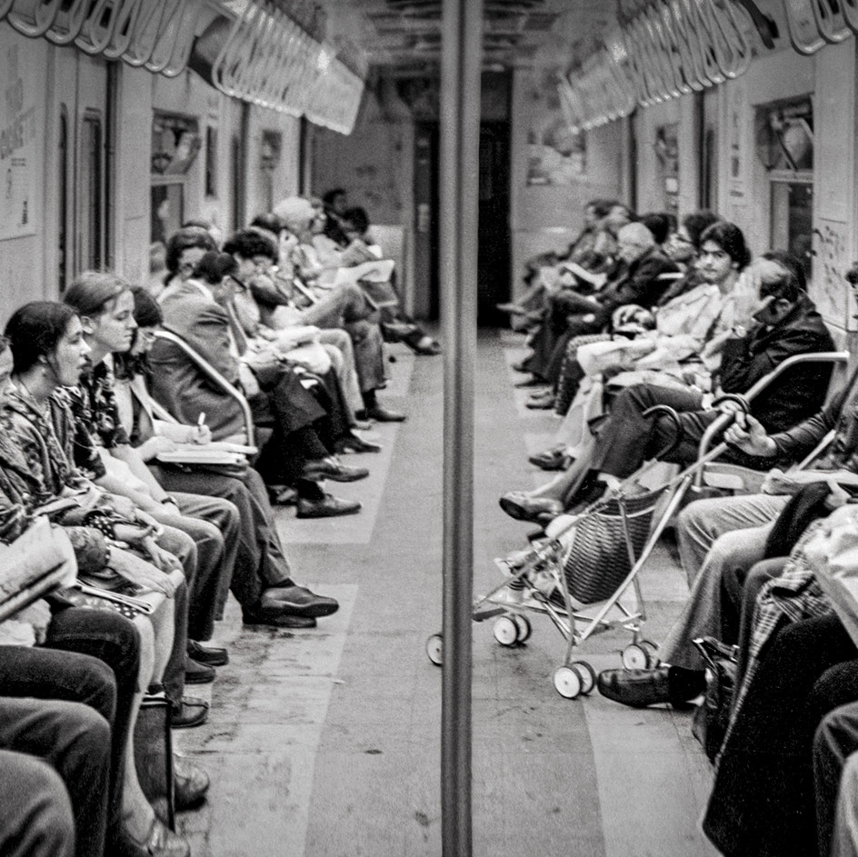 On The Subway, NYC 1970's