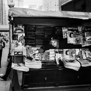 Newstand, Lower Park Ave, NYC 1970's