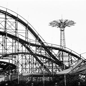 Cyclone Roller Coaster, Coney Island Brooklyn, 1970's