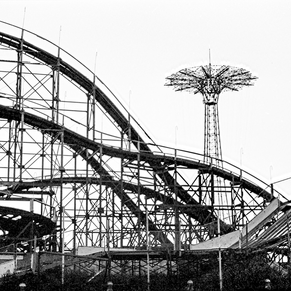 Cyclone Roller Coaster, Coney Island Brooklyn, 1970's