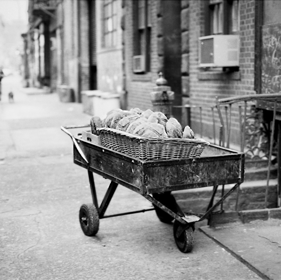 Bread Cart, Mulberry St. NYC 1970's