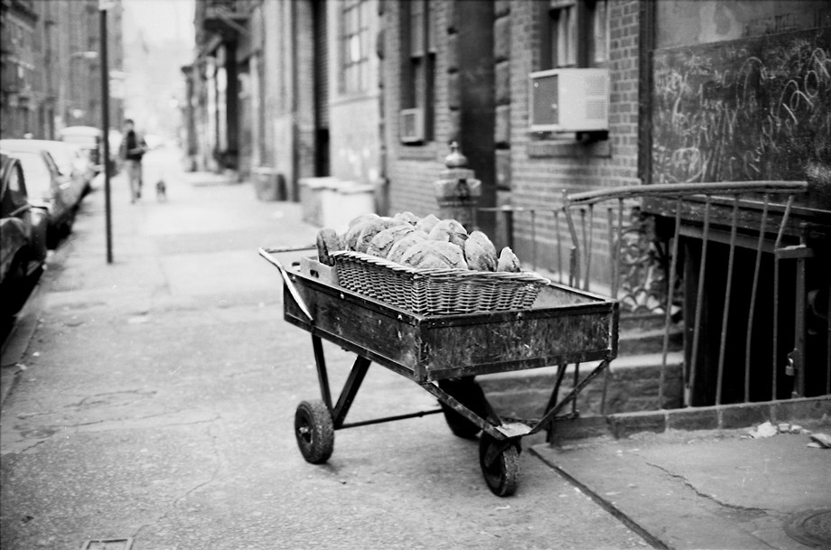 Bread Cart, Mulberry St. NYC