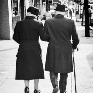 Strolling Couple, Midtown Manhattan, 1970's