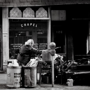 Searching Through A Find, NYC 1970's