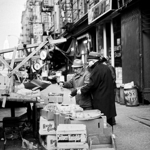 Fruit and Vegetable Cart, Mott St. NYC 1970's