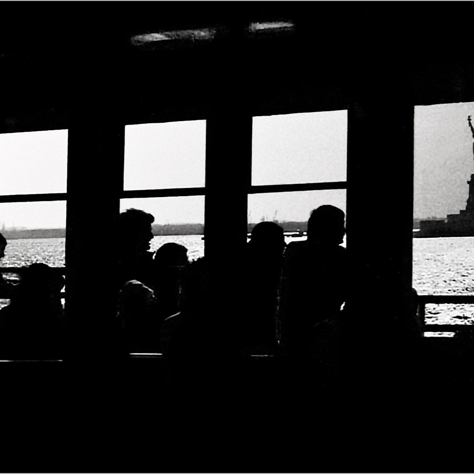 Statue Of Liberty From Staten Island Ferry Window