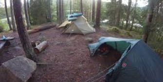 Dwight Mission group camping