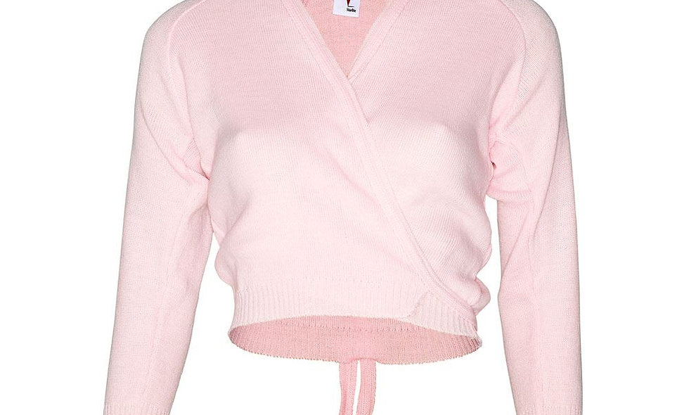 Pink Crossover Cardigan
